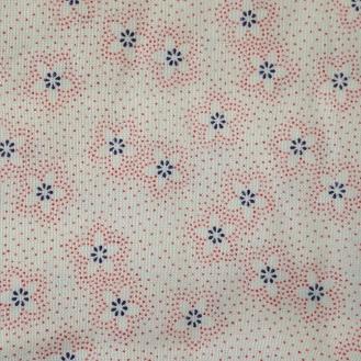 Webware aus Baumwolle und Polyester mit impressionistischen Blümchen