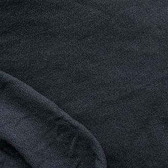schwarzer Jacquard-Jersey aus Bio-Baumwolle (GOTS)